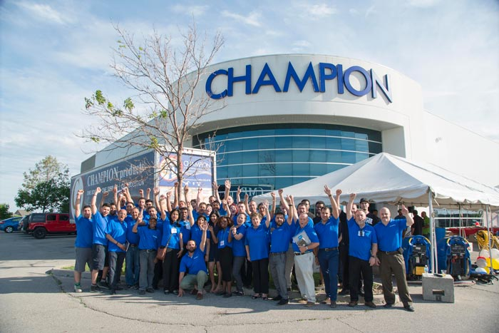 Champion Products team