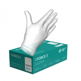 Forcefield V-Force 3 Vinyl Clear Glove L Powder Free, CFIA Aprroved - 00772200INPFL