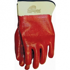 Petro Cheif Red Glove with Safety Cuff Lined L - 014P830L