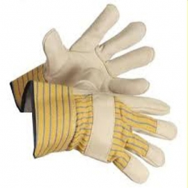 Forcefield Grain Leather Patch Palm Work Glove Safety Cuff, Economy Grade - 015-02830