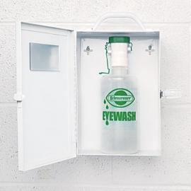 Safecross Eye Wash Metal Station L With 1 Empty Eye Wash Bottle - 020-01490