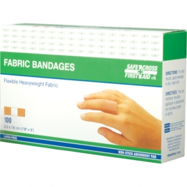 Safecross Heavy weight Fabric Bandages 7/8in X 3in - 02003026I