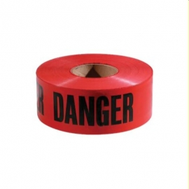 "Red Danger Tape 3"" x 1000ft - 022-DT-R"