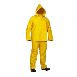 Forcefield 3-Piece Yellow PVC Rainsuit XL Fire Resistant - 02350004FR