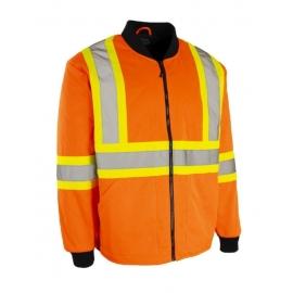 Forcefield Hi Visibility Safety Freezer Jacket L Orange - 024-FJQOR-L
