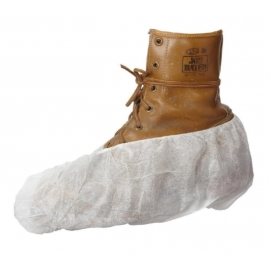 Forcefield White Non-Skid Polypropylene Boot/Shoe Covers - 024-WBNS