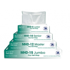 "MHD-10 10"" x 10.75"" Interfold HDPE Deli Sheets- 030003 - 10X1000/cs"