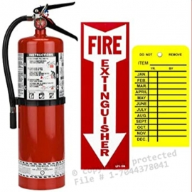 ABC 10LB Fire Extinguisher Wall Mount Bracket Included - 032-ABC10
