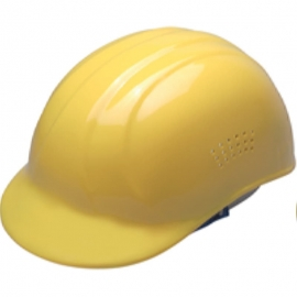 Dynamic Safety Yellow Bump Cap with 4-Point Plastic Suspension and Pin Lock Adjustment - 036HP940Yellow