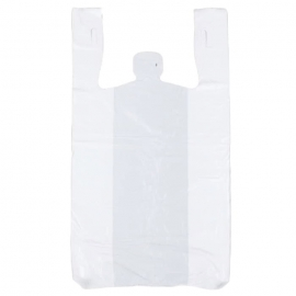 Hymopack S1 11in x 6in x 20in White T-Shirt Bags (LD) Low Density - 050025 - 1000/cs