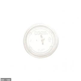 DIXIE Clear Straw Slot Plastic Lid 7oz - 056564 - 1000/cs