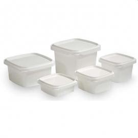 IPL Plastics Clear Square Lid 8/16oz - 062568 - 1350/cs