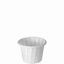 Dart Solo 3/7 oz White Paper Portion Cups - 075-2050 - 250/cs