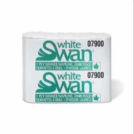 White Swan White, 8 Fold Dinner Napkins - 07900