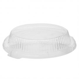 """Pactiv Clear Dome Lid for 10"""" Foam Plates 10.25 - 0CI800100000 - 252/cs"""