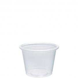 Dart Clear 1 oz Plastic Portion Cups - 100PC - 2500/cs