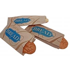 "6"" x 3"" x 19"" ""Fresh Bread"" Print Bread Bags - 1060013 - 1000/bn"