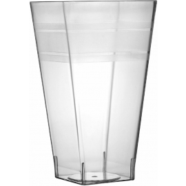 Fineline Settings Clear Plastic Square Tumbler 10oz Party Supplies - 1110L - 168/cs
