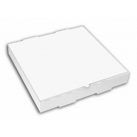 """12in White Double Pizza Boxes 12"""" x 12"""" x 2"""" - 120129 - 50/bn, 32bn/sk"""