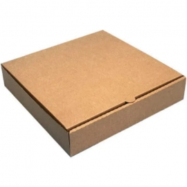 """12in Brown Pizza Boxes 12"""" x 12"""" x 1.75"""" - 120132 - 50/bn, 32bn/sk"""