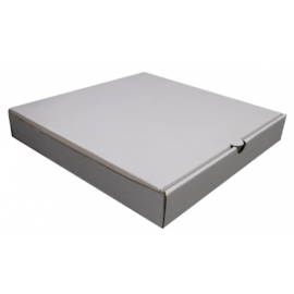 "14in White Double Pizza Boxes 14"" x 28"" x 2"" - 120140 - 50/bn, 7bn/sk"