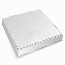 "15in White Pizza Boxes 15"" x 15"" x 2"" - 120144 - 50/bn, 24bn/sk"