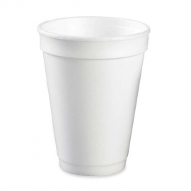 Genpak Plain 12 oz Foam Cups - 120M - 1000/cs