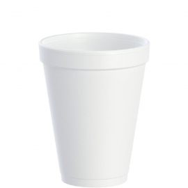 Dart J Cup 12 oz Foam Cups - 12J12 - 1000/cs