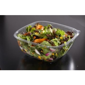 Sabert 160oz /10 lb Clear Square (PET) Catering Bowls - 14160B50 - 50/cs
