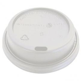 Genpak White Dome Lids fits 10 oz - 20 oz Plastic Cups  - 14HDL-W - 1000/cs