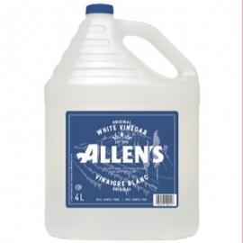 Allen's Commercial Grade Pure White Vinegar 4L 5% Vinegar, Cleaning Agent - 152033 - 4/cs