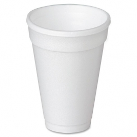 Genpak Plain 16 oz Foam Cups - 160M - 500/cs