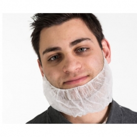 Forcefield White Disposable Beard Guard - 175174