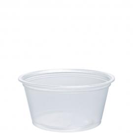 Dart Conex Compliments Translucent 2 oz Plastic Portion Cups - 200PC - 2500/cs