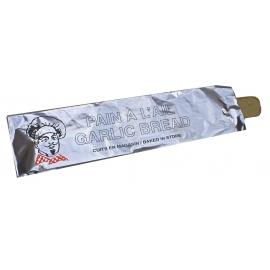 """Laminated Garlic Bread Foil Bags 5.25"""" X 2.25"""" X 19"""" - 2053004 - 500/cs"""