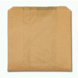 "6"" x 2"" x 9"" Jumbo Sandwich Paper Bags- 2061009 - 1000/cs"