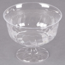 Fineline Settings Clear Plastic Dessert Cup 8oz Party Supplies One Piece - 2088L - 10/pk
