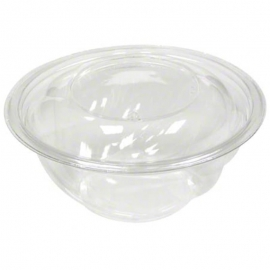Pactiv Roseware Clear Plastic Bowl 16oz With Dome Lid - 23515015 - 500/cs