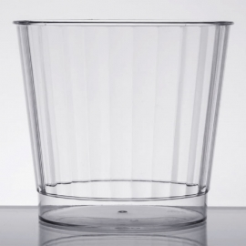 Fineline Settings Hard Plastic Crystal Tumbler 9oz Speciality Food Service Supplies Clear - 2409L - 20/pk