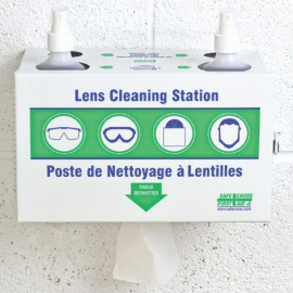 Safecross Metal Lens Cleaning Station with Cleaner & Tissues - 25173