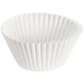 Pactiv White Round Dry Wax Baking Cup 1/2 Sheet - 2602004 - 25/cs