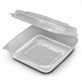 SeeShell Large Hinged Clear Container Large - 2602129 - 150/cs