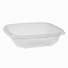 Pactiv Clear Square Bowl 24oz Recycled Plastic - 260658 - 300/cs