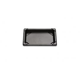 "D&W Fine Pack Small Black Sushi Tray 6.5"" X 4.5"" Shallow - 2609909 - 600/cs"