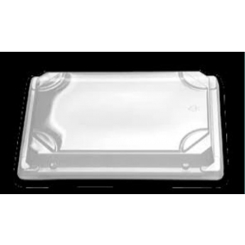 """D&W Fine Pack Clear Lid for Sushi Tray 6.5""""x 4 5/8"""" x 3"""" - 2609910 - 600/cs"""