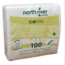 North River 1/8 Fold Paper Dinner Napkins 2ply - 264140 - 3000/cs