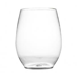Fineline Settings Renaissance Plastic Stemless Goblet 12oz Party Supplies Clear - 2712CL - 64/cs