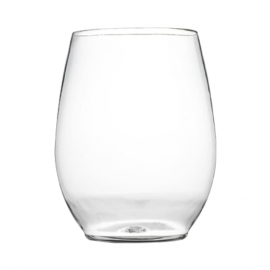 Fineline Settings Clear Plastic Stemless Goblet 12oz Catering Supplies - 2722L - 48/cs