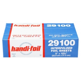 Handi-Foil 9in X 10.75in Sliver 200 Sheets - 29100 - 12bx/cs