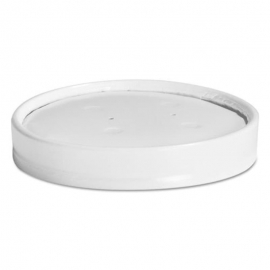 Chinet White Vented Paper Lid 12/16oz - 2951539 - 1000/cs